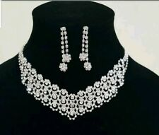 Silver Necklace Set Wedding, Party, any time wearUk seller
