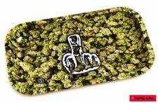 Rolling Tray / Brösel-Unterlage aus Metall - Motiv: BUDS + MITTELFINGER 16x27cm