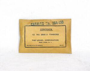 Rare Postwar Lionel #264-150 Set Of 12 Timbers~w/Nice Envelope
