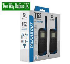 MOTOROLA WALKIE TALKIES TWO WAY RADIOS - LICENCE FREE TLKR T62 TWIN PACK - BLACK