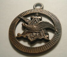 VERY EARLY Vintage Antique Budweiser Anheuser Busch Bronze keychain Fob
