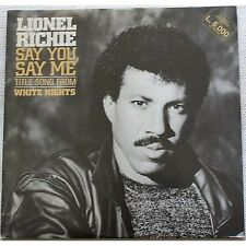 "LIONEL RICHIE - Say you say me - MAXI LP ITALY VINYL 12"" 1986 PROMO WHITE LABEL"