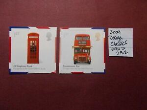 GB 2009~Design Classics~Set~SG-2911-2912~Self Adhesive~MNH~UK Seller