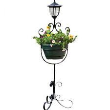 Novelty Plant Stand Flower Pot Garden Planter Balcony Patio Solar Light Pedestal