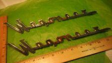 AK52 Jeep Wagoneer Fender Tailgate Emblems Vintage 1962-5 #961385 WAGONEER