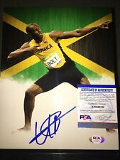 Usain Bolt Signed 8x10 Photo 9x Gold Olympian Beijing London Rio PSA/DNA #3