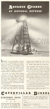 VTG Caterpillar DIESEL Electric Generator Electricity Light Military WWII Ad