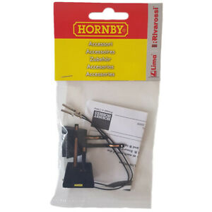 Hornby R8201 Track Link Wire Pack of 2 Power Clips and Wires OO Gauge