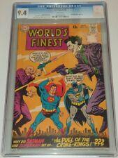 WORLDS FINEST COMICS #177 CGC 9.4 WHITE PAGES BATMAN SUOERMAN JOKER DC 1968 (SA)