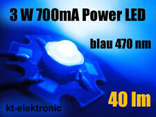 3 Stück Power LED 3W 700 mA blau 40 lm