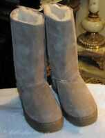NEW WOMENS LADIES BEST TALL MIDCALF SHEEPSKIN BOOTS ChzUrColor SIZE 5 6 7 8 9 10