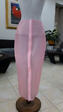 TRASPARENTE Rosa Gonna in PVC PASTOIA