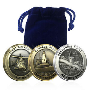 Royal Navy Christmas Gifts Spoof Coin Game Memorabilia Full Bundle Set Pouch