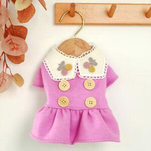 Cute Small Pet Dog Dress Winter Warm Wool Princess Skirt Puppy Cat Dress Clothes
