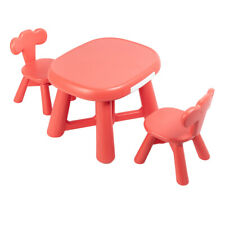 Plastic Kids Table And 2 Chairs Set For Boys Or Girls Toddler Reading Writing