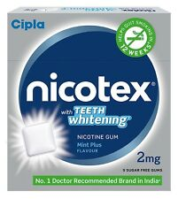 10 Packet - Cipla Nicotex 2mg 'Mint Plus' Flavor 90 gums for Quit Smoking.