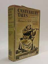 """Canterbury Tales by Chaucer-Illustrated by Rockwell Kent-HC/DJ-1934 """"CL"""""""