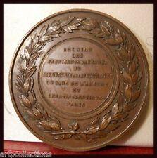 1869 Médaille Réunion Fabricants Bronze Industrie Fonte Fer Argent Art Plastique