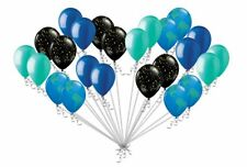 24 BALLOONS OUTER SPACE Inspired Latex Party globe earth day astronaut alien new