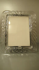 Vintage Heavy Crystal Picture Photo Frame 5x7