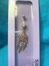 Rhinestone Belly Ring 14 Gauge One New Claires Dreamcatcher And