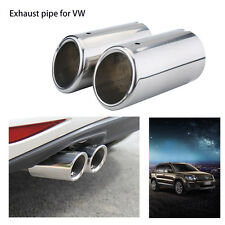 Stainless Steel Exhaust Tail Pipe Muffler Tip For VW Golf Tiguan Passat 67mm