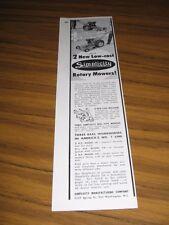 1955 Print Ad Simplicity Rotary Lawn Mowers Port Washington,WA