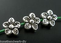 50 Antiksilber Spacer Perlen Beads Metall Zwischenperlen 9x9mm