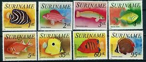 Surinam Scott 447-451, C55-C57 tropical fish MNH 1976