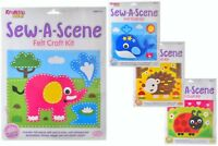 Childrens Sewing Kit - Sew A Scene - Kids Felt Craft Kits - 4 Different Designs