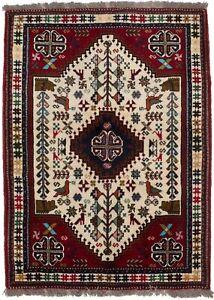 Animal Design Handmade 4X5 Tribal Style Oriental Wool Rug Home Entryway Carpet
