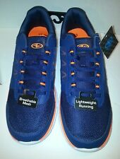 ATHLETIC WORKS MEN'S SIZE 13 SHOES NAVY/ORANGE LIGHTWEIGHT. NEW WITH TAG!