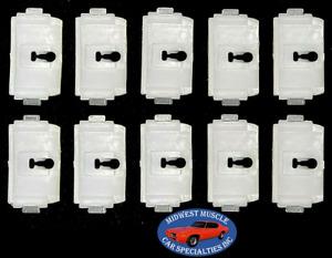 73-79 Ford F100 F150 F250 Truck Body Cab Bed Side Belt Molding Trim Clip 10pc SE