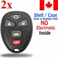 2x New Replacement Keyless Remote Key Fob For Chevy Buick Cadillac - Shell Only