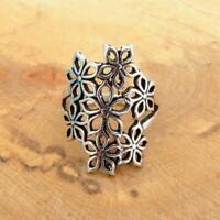 925 Sterling Silver Flower Design Ring Jewellery
