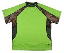 Men's Browning Chalking Tee Performance T-Shirt Green Flash Realtree Camo Size M