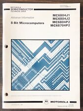 Motorola 8-Bit Microcomputers Mc6804 Mc68704 Data Book 1986
