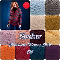 Sirdar Cashmere Merino Silk Double Knit Wool Yarn 50g Ball