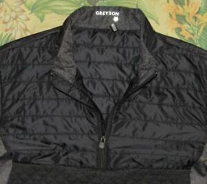 GREYSON Black Comanche Half Zip Pullover Golf Jacket Large L