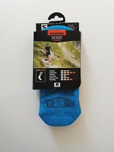 Salomon Running 2 Pack Sense Ankle Socks Blue Orange Resists Friction S M L XL