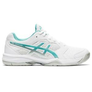 Asics Gel Dedicate 6 Women's Tennis / Pickleball Shoe (White/Techno Cyan)
