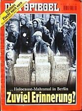 SPIEGEL 35/1998 Das Holocaust-Mahnmal in Berlin