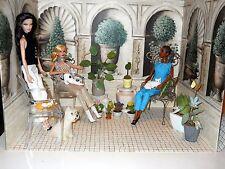 Verdant Terraces & Tromp l'oeil Interiors-Gorgeous Garden Inspired Diorama Rooms