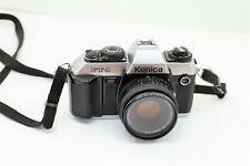 Vintage Konica Ft-1 Motor Slr Camera w/Lens 50mm f18-part or not working