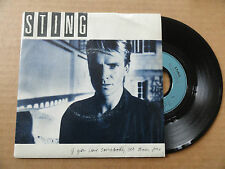 "DISQUE 45T  DE  STING   "" IF YOU LOVE SOMEBODY SET THEM FREE  """