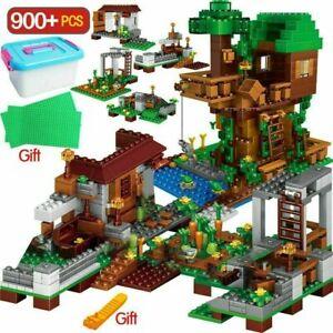900PCS Compatible Brick Set  My World  Village Tree House For Children &Gift
