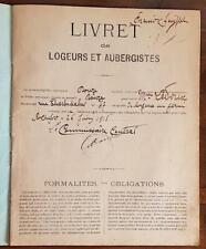 LIVRET de LOGEURS ET AUBERGISTES Madame LEDOUX à ROCHEFORT 26 juin 1918