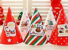 Christmas Party Hats Festival Celebration Xmas Paper Hat Table Decor 10pcs