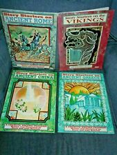 4Bks Story Starters Ancient Greece Rome China Vikings Kids Creative Writing NEW