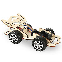 Development DIY Electric Racing Car Physic Science Assembly Wooden Model Kit Toy